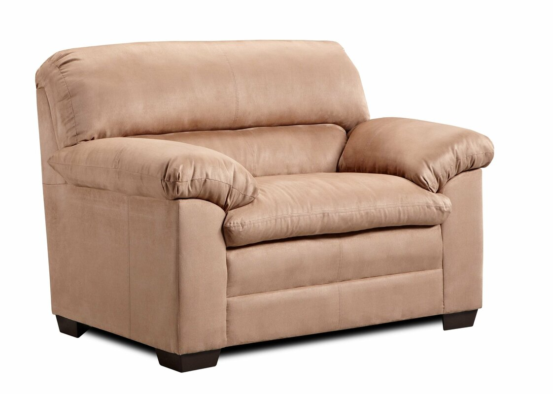 simmons upholstery velocity chair and a half & reviews | wayfair