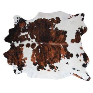cowhide handwoven brownblack area rug