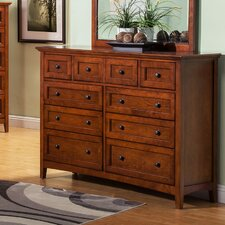 9 Drawer Dresser with Drop Front Center Drawer by Darby Home Co