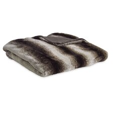 Reversible Striped Mink Faux Fur Throw