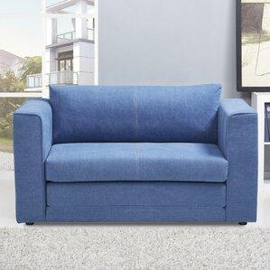 blue denim sofa   wayfair