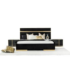 Aiello King Platform Customizable Bedroom Set by Everly Quinn