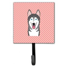 Checkerboard Alaskan Malamute Leash Holder and Wall Hook by Caroline's Treasures