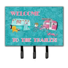 Welcome To The Trailer Leash Holder and Key Hook by Caroline's Treasures