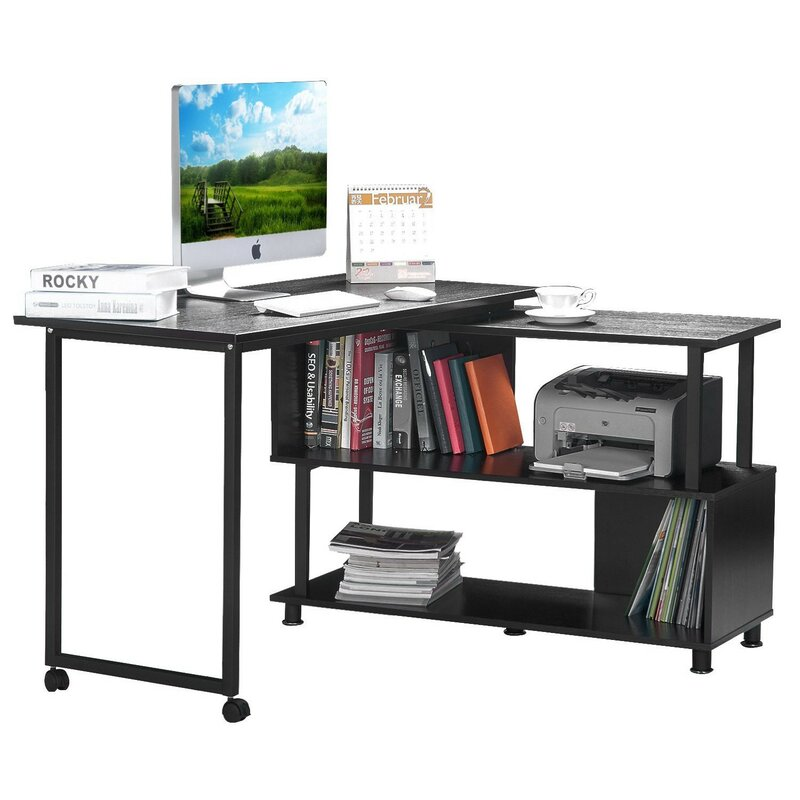 Merax LShape Computer Desk Reviews Wayfair
