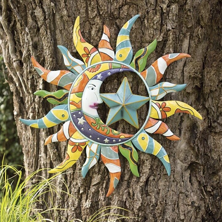 sun moon indooroutdoor wall decor - Sun Wall Decor