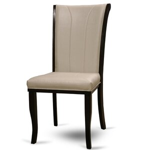Langleyville Genuine Leather Upholstered Dining Chair (Set of 2) by Alcott Hill