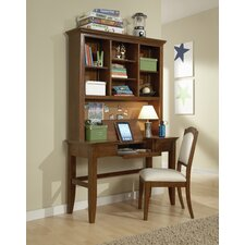Dustin Writing Desk with Hutch and Chair by Viv + Rae
