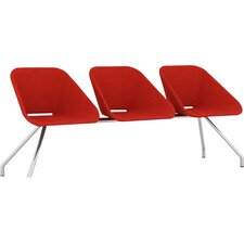 Red Three Seat Bench by B&T Design