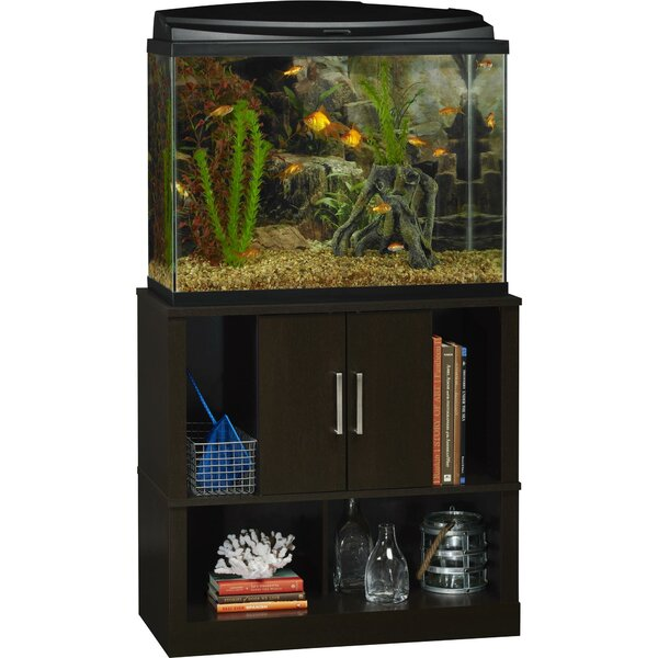 Altra laguna tide 37 gallon aquarium stand reviews wayfair for Hexagon fish tank lid