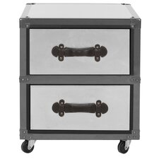 Gage 2 Drawer Rolling Chest by Safavieh