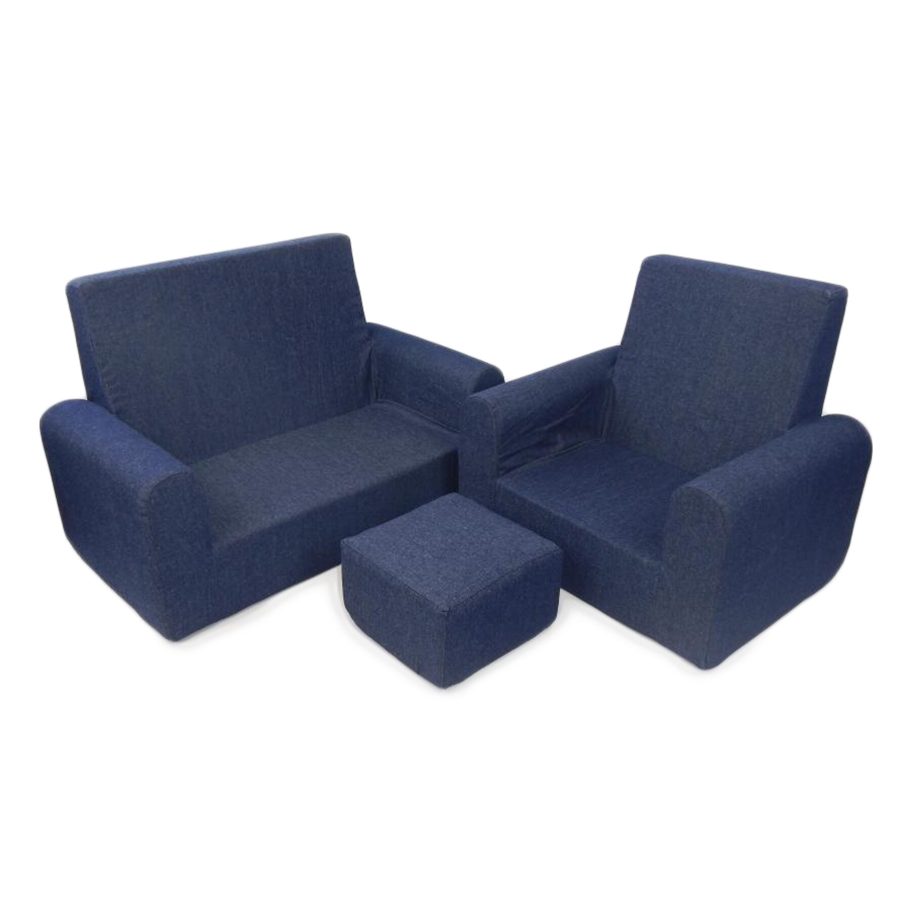 Fun Furnishings 3 Piece Kids Sofa Chair and Ottoman SetReviews
