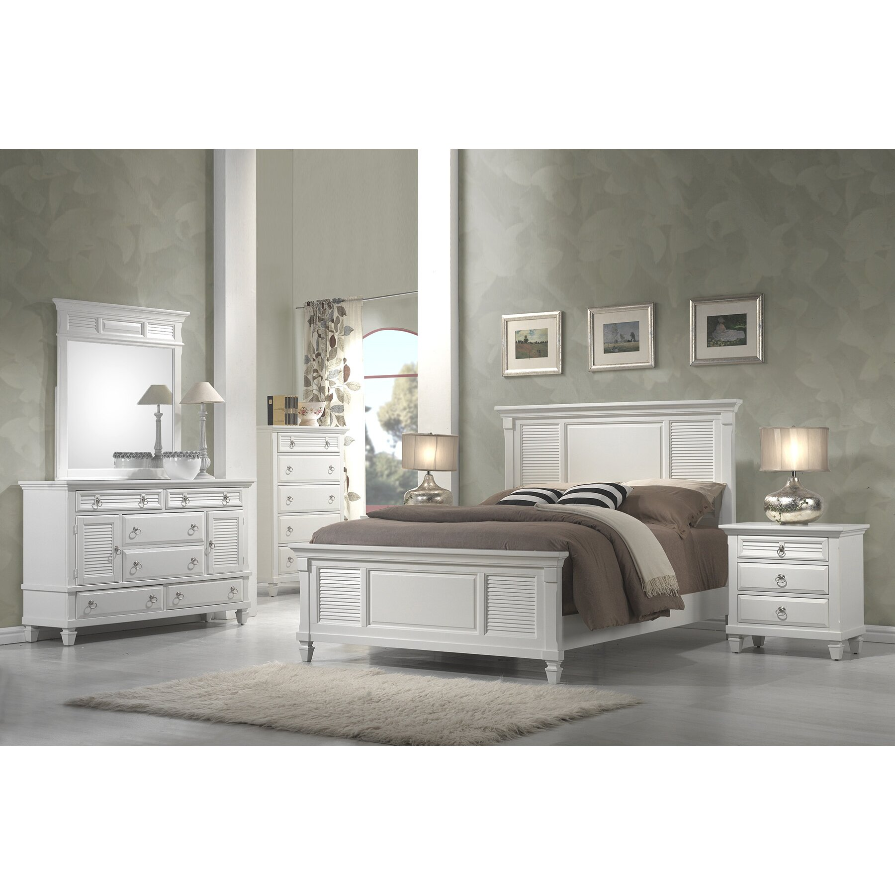 Beachcrest Home Norfolk Panel Bed & Reviews