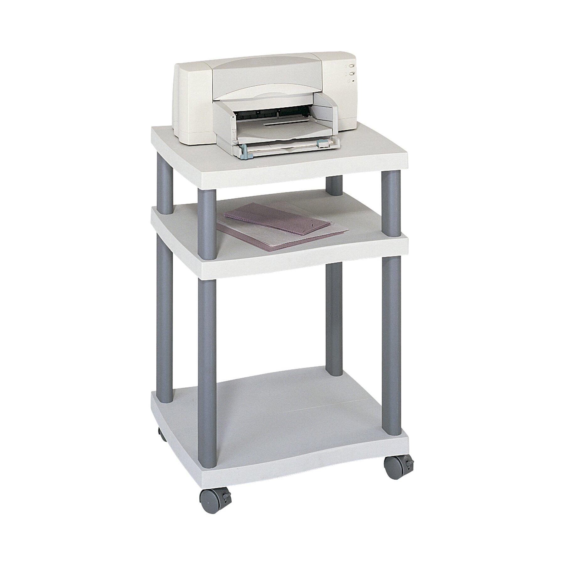 Safco Wave Mobile Printer Stand with 2 Shelves & Reviews | Wayfair ...