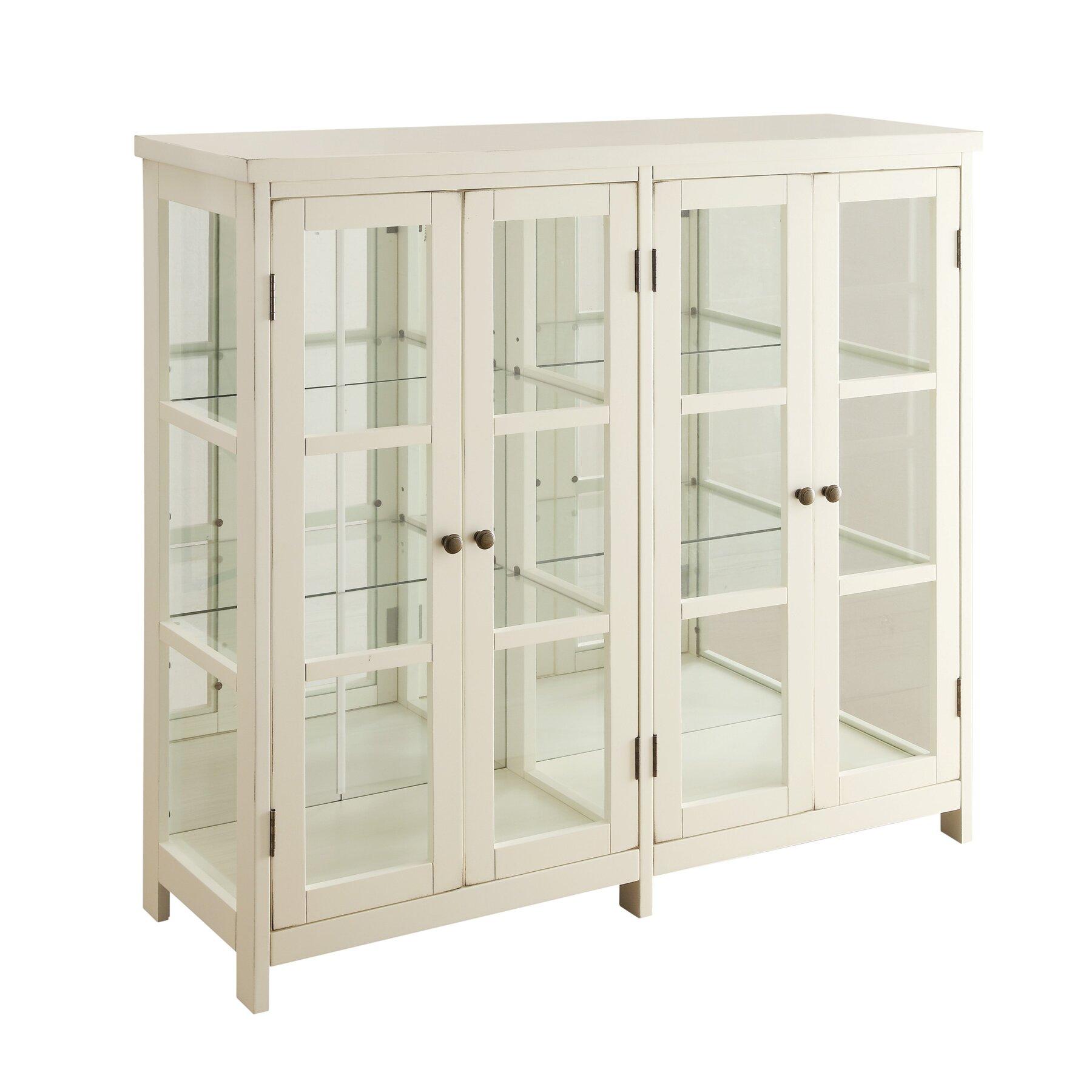 Accent cabinet with glass doors - 4 Door Accent Cabinet