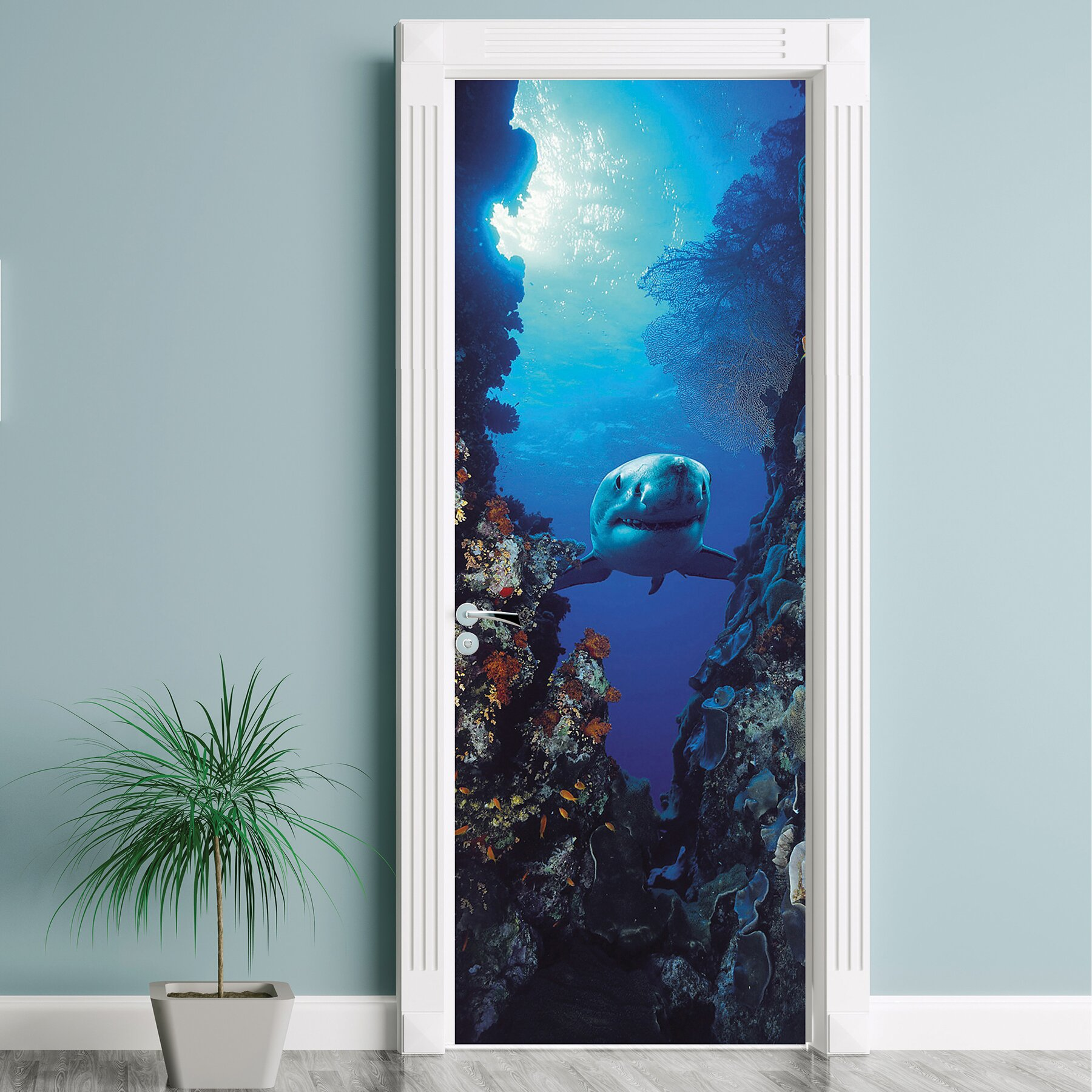 Brewster home fashions komar shark wall mural reviews for Brewster home fashions komar wall mural