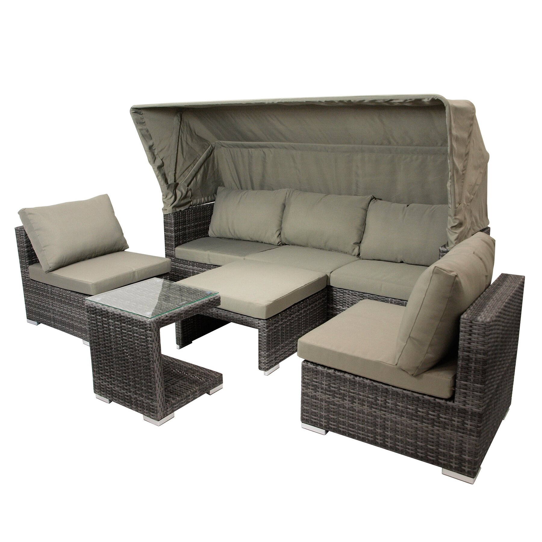 Garten living 7 sitzer sofa set berlin for Sofa 7 sitzer