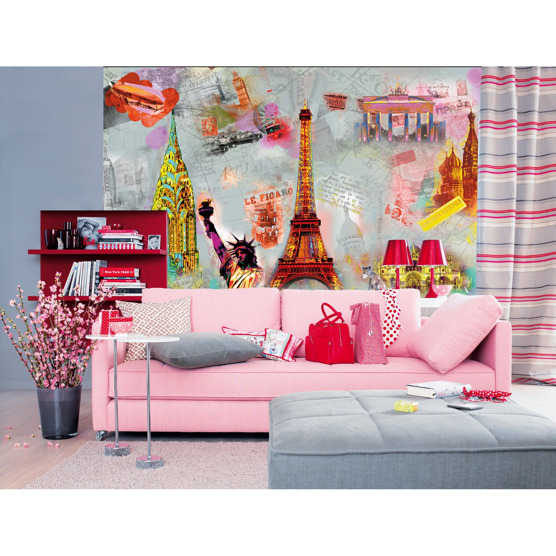 Ideal Decor Around The World Wall Mural