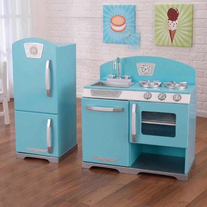 kidkraft 2 piece retro kitchen and refrigerator set & reviews