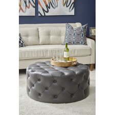 Cayson Round Button Tufted Cocktail Ottoman by Darby Home Co