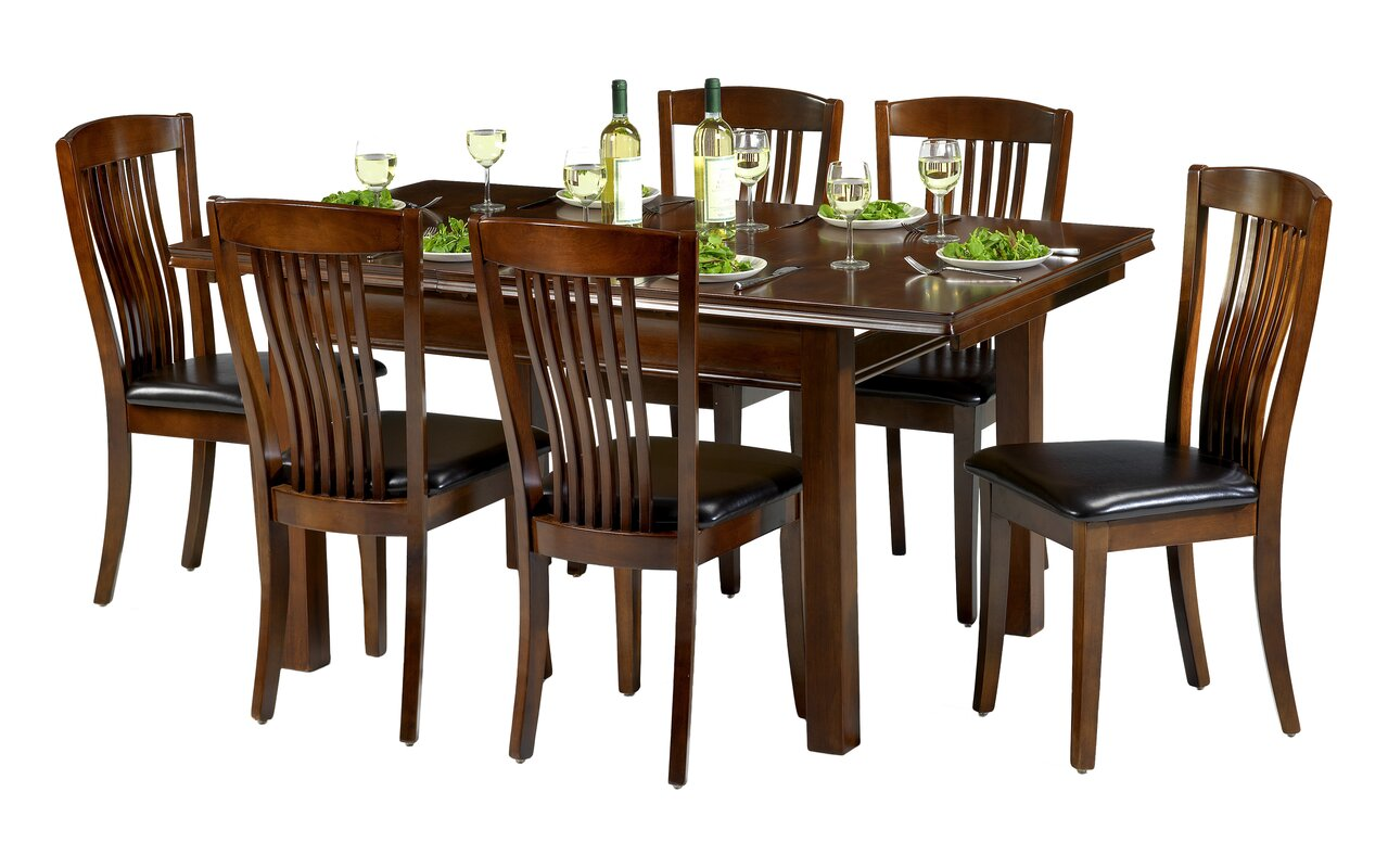 Three Posts Remsen Extendable Dining Set with 6 Chairs Reviews