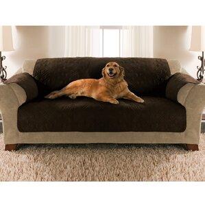 Double Diamond Microsuede Sofa Slipcover