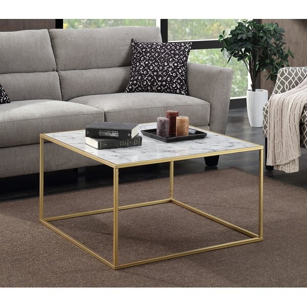 willa arlo interiors theydon faux marble coffee table & reviews