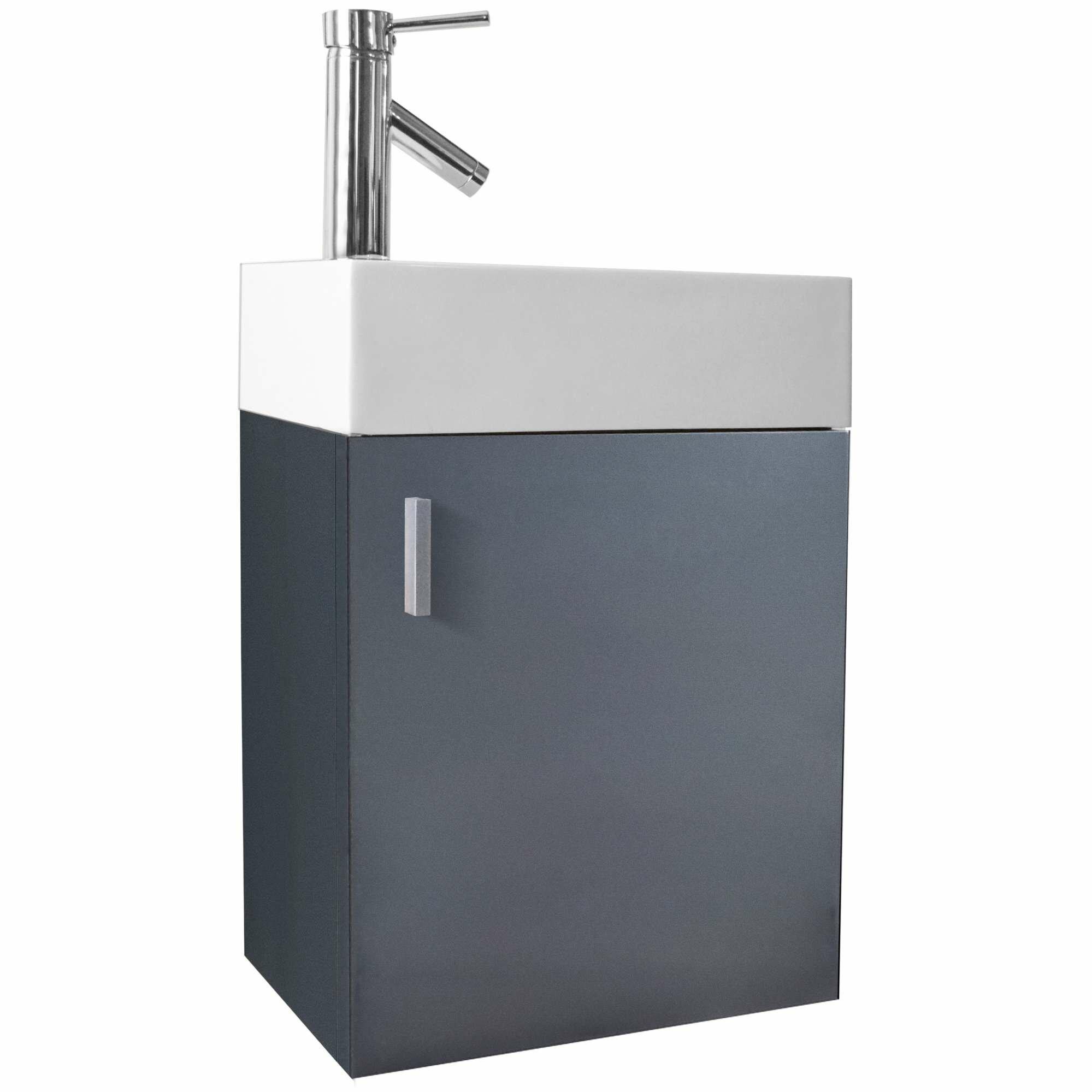 Virtu bathroom accessories - Carino 16 Single Bathroom Vanity Set With White Top