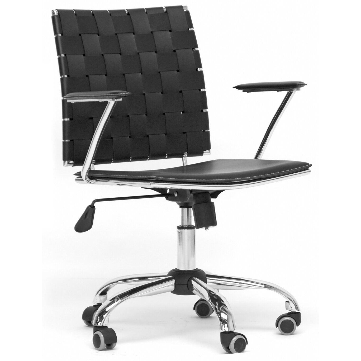 Black and white office chair - Baxton Studio Vittoria Desk Chair