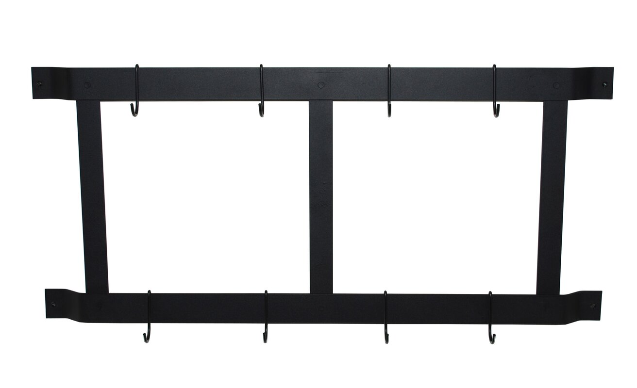 Mercury Row Straight Bar Wall Mounted Pot Rack Reviews Wayfair