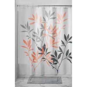 Leaves Shower Curtain  Orange Shower Curtain