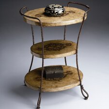 Metalworks 3 Tiered End Table by Butler