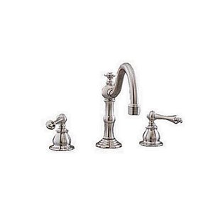 Double Handle Widespread Bathroom Faucet Strom Plumbing Sign of the Crab
