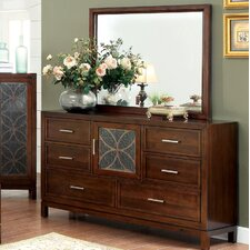 Savannah 6 Drawer Combo Dresser with Mirror by Hokku Designs