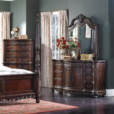 Chalus 9 Drawer Dresser with Mirror by Astoria Grand