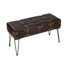 Faux Leather Storage Bedroom Bench by Tripar