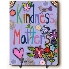 Kindness Matters Planked Wood Wall Mounted Coat Rack by Viv + Rae