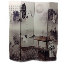 71 x 64 Poet's Dream Chinese Painting 4 Panel Room Divider by ORE Furniture