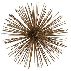 Metal Sea Urchin Ornamental Sculpture Wall Decor