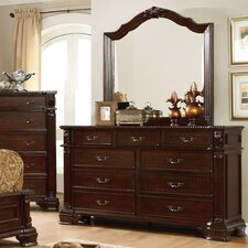 Georgeson 9 Drawer Dresser with Mirror by Astoria Grand