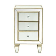 Reiner Mirror 3 Drawer Accent Chest by House of Hampton