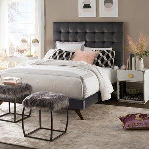 tipton upholstered platform bed - Velvet Bed Frame