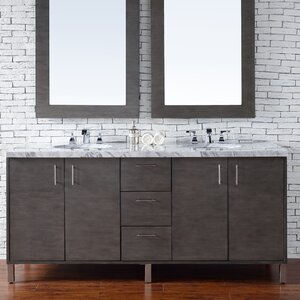 Cordie 72 Double Silver Oak Bathroom Vanity Set Orren Ellis