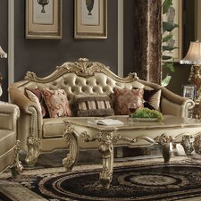 Reimann Leather Sofa by Astoria Grand