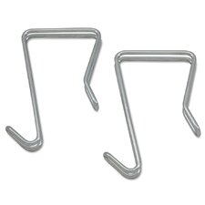 Single Sided Partition Garment Hook (Set of 2) by Alera