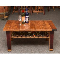 napa east collection wine country coffee table | wayfair
