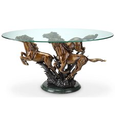 Galloping Horse Trio Coffee Table by SPI Home