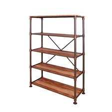 Bremen Industrial 70.63 Etagere Bookcase by Enitial Lab