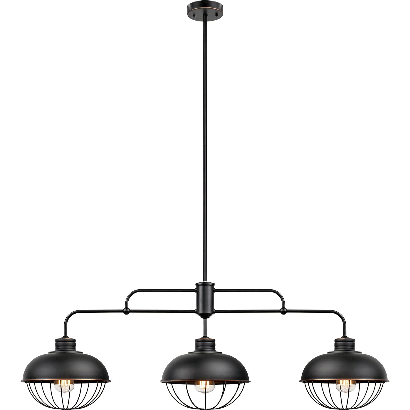 Kitchen Island Lantern Pendants: Globe Electric Company Elior 3-Light Kitchen Island Pendant & Reviews