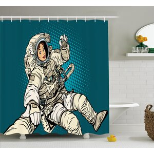 Woman Astronaut Hands Decor Shower Curtain East Urban Home